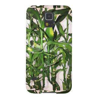 Capinhas Galaxy S5 Planta da casa do folha do verde e os de bambu dos