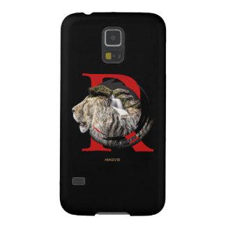 Capinhas Galaxy S5 Projeto majestoso personalizado do leão e da