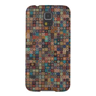 Capinhas Galaxy S5 Retalhos do vintage com elementos florais da