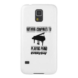 Capinhas Galaxy S5 Tendendo o design do jogador de piano
