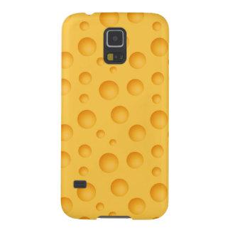 Capinhas Galaxy S5 Teste padrão amarelo do queijo