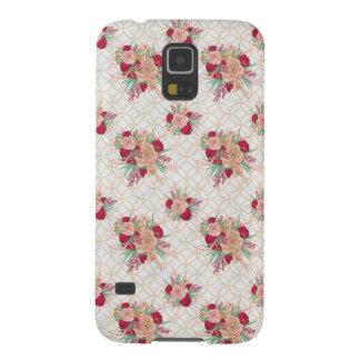 Capinhas Galaxy S5 Teste padrão de flores