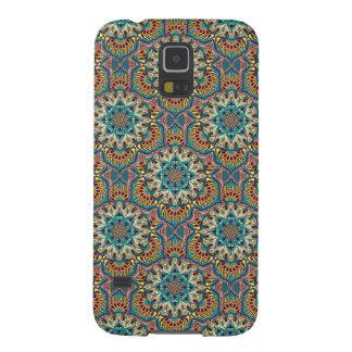 Capinhas Galaxy S5 Teste padrão floral étnico abstrato colorido da