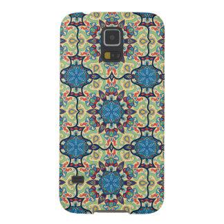 Capinhas Galaxy S5 Teste padrão floral étnico abstrato colorido de da