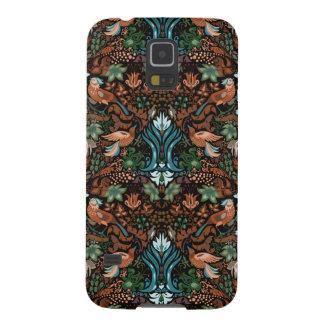 Capinhas Galaxy S5 Teste padrão floral luxuoso do lux do pássaro do