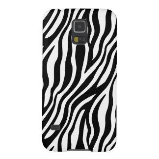 Capinhas Galaxy S5 Teste padrão preto e branco das listras do