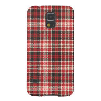 Capinhas Galaxy S5 Teste padrão vermelho e preto da xadrez