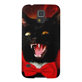 Capinhas Galaxy S5 vampiro do gato - gato preto - gatos engraçados