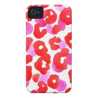 Capinhas iPhone 4 Amor selvagem do vermelho do ethno do jaguar