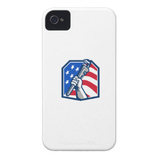 Capinhas iPhone 4 Bandeira dos EUA da chave de tubulação da mão do