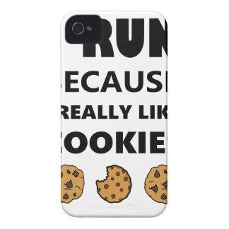 Capinhas iPhone 4 Biscoitos para a saúde, corredor do funcionamento