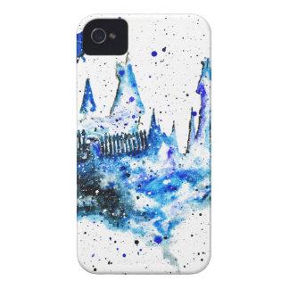 Capinhas iPhone 4 Caixa medieval azul pintado mão do iPhone 4/4S do
