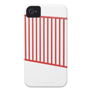 Capinhas iPhone 4 Cerca móvel vermelha