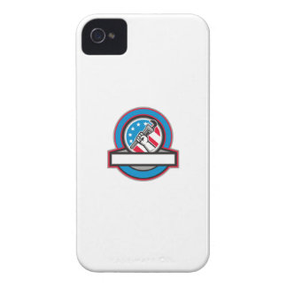 Capinhas iPhone 4 Círculo da bandeira dos EUA da chave de tubulação