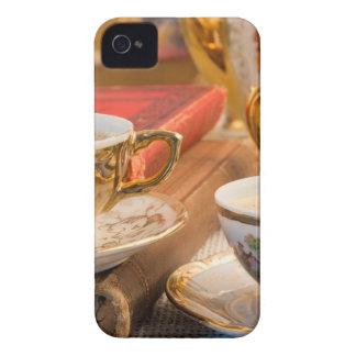 Capinhas iPhone 4 Copos de café retros da porcelana com café quente