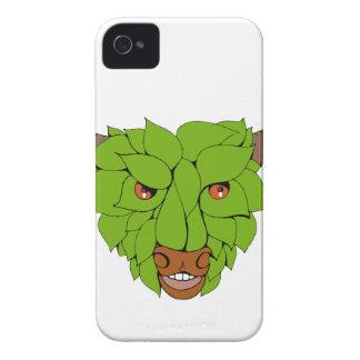 Capinhas iPhone 4 Desenho principal verde de Bull