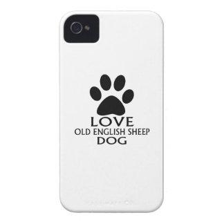 Capinhas iPhone 4 DESIGN INGLÊS VELHO do cão de CARNEIROS do AMOR