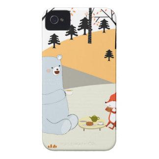 Capinhas iPhone 4 Lobo bonito da raposa do verão do primavera do
