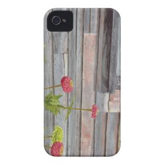 Capinhas iPhone 4 madeira e zinnias resistidos