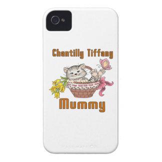 Capinhas iPhone 4 Mamã do gato de Chantilly Tiffany