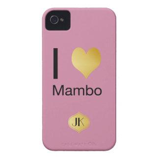 Capinhas iPhone 4 Mambo Playfully elegante do coração de I