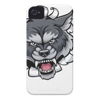 Capinhas iPhone 4 Mascote do grilo do lobo que quebra o fundo