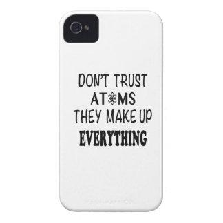 Capinhas iPhone 4 Não confie átomos que compo tudo