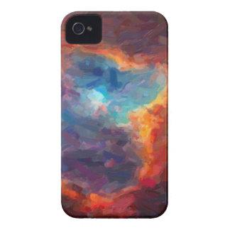 Capinhas iPhone 4 Nebulosa galáctica abstrata com nuvem cósmica 4