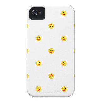 Capinhas iPhone 4 O motivo feliz de Sun caçoa o teste padrão