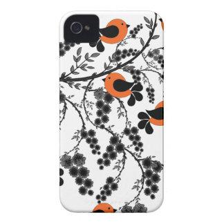 Capinhas iPhone 4 pássaros alaranjados
