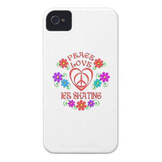 Capinhas iPhone 4 Patinagem no gelo do amor da paz