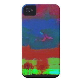 Capinhas iPhone 4 Queda colorida céu abstrato tonificado do
