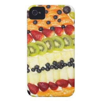 Capinhas iPhone 4 Torta dada forma ovo da fruta com várias frutas