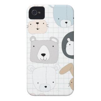 Capinhas iPhone 4 Urso, leão e coelho de ursinho animal bonito dos