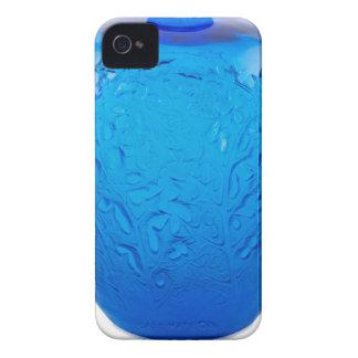 Capinhas iPhone 4 Vaso de vidro do art deco azul com folhas
