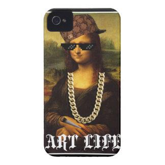 Capinhas iPhone 4 Vida da arte da vida do vândalo de Mona Lisa