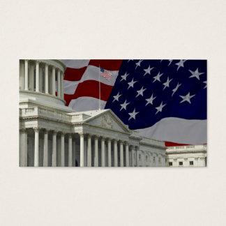 Capital & bandeira dos Estados Unidos Cartão De Visitas