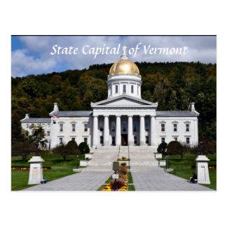 Capital de estado do cartão de Vermont
