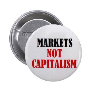 Capitalismo dos mercados não bóton redondo 5.08cm
