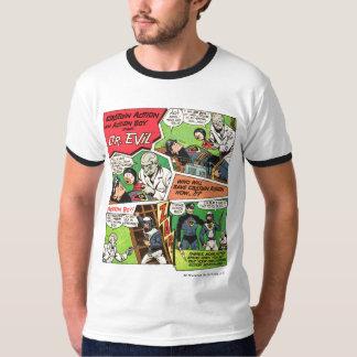 Capitão Ação Clássico Anúncio T Camiseta
