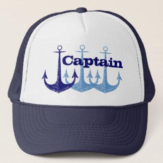 Capitão azul da âncora boné