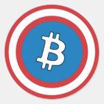 Capitão Bitcoin Etiqueta Adesivos