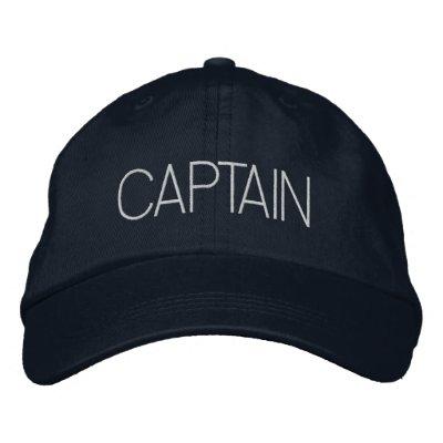 Capitão Chapéu - capitão do barco, presente do Boné Bordado