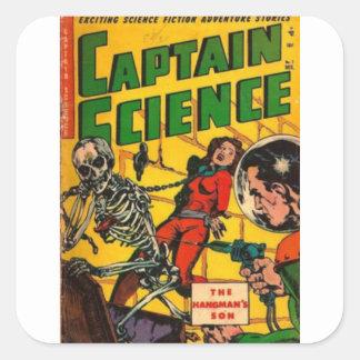 Capitão Ciência Adesivo Quadrado