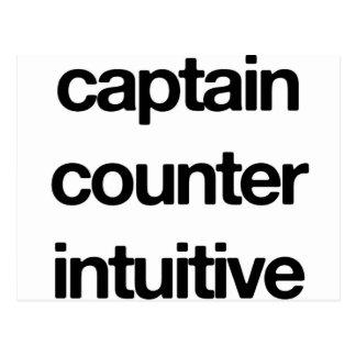 Capitão Contador Intuitivo Cartão Postal