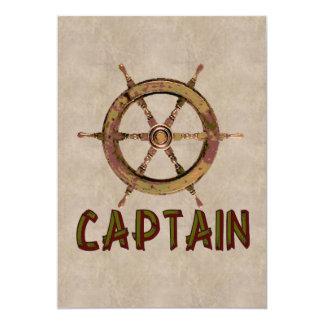 Capitão Convite 12.7 X 17.78cm