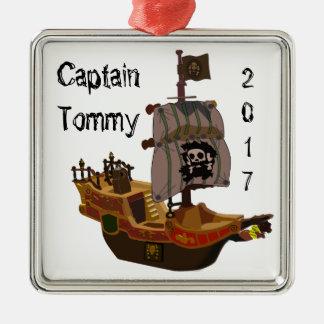 Capitão de navio ornamento do pirata