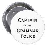 Capitão do botão da polícia da gramática boton