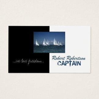 Capitão Envio Náutico Cartão do barco de vela