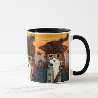 Capitão Leo, gato do pirata & caneca da arte da